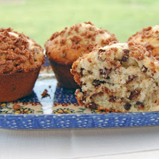 Coconut Chocolate Chip Muffins with Cocoa Coconut Streusel.