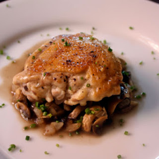 Jacques Pepin's Crusty Chicken with Mushrooms and White Wine