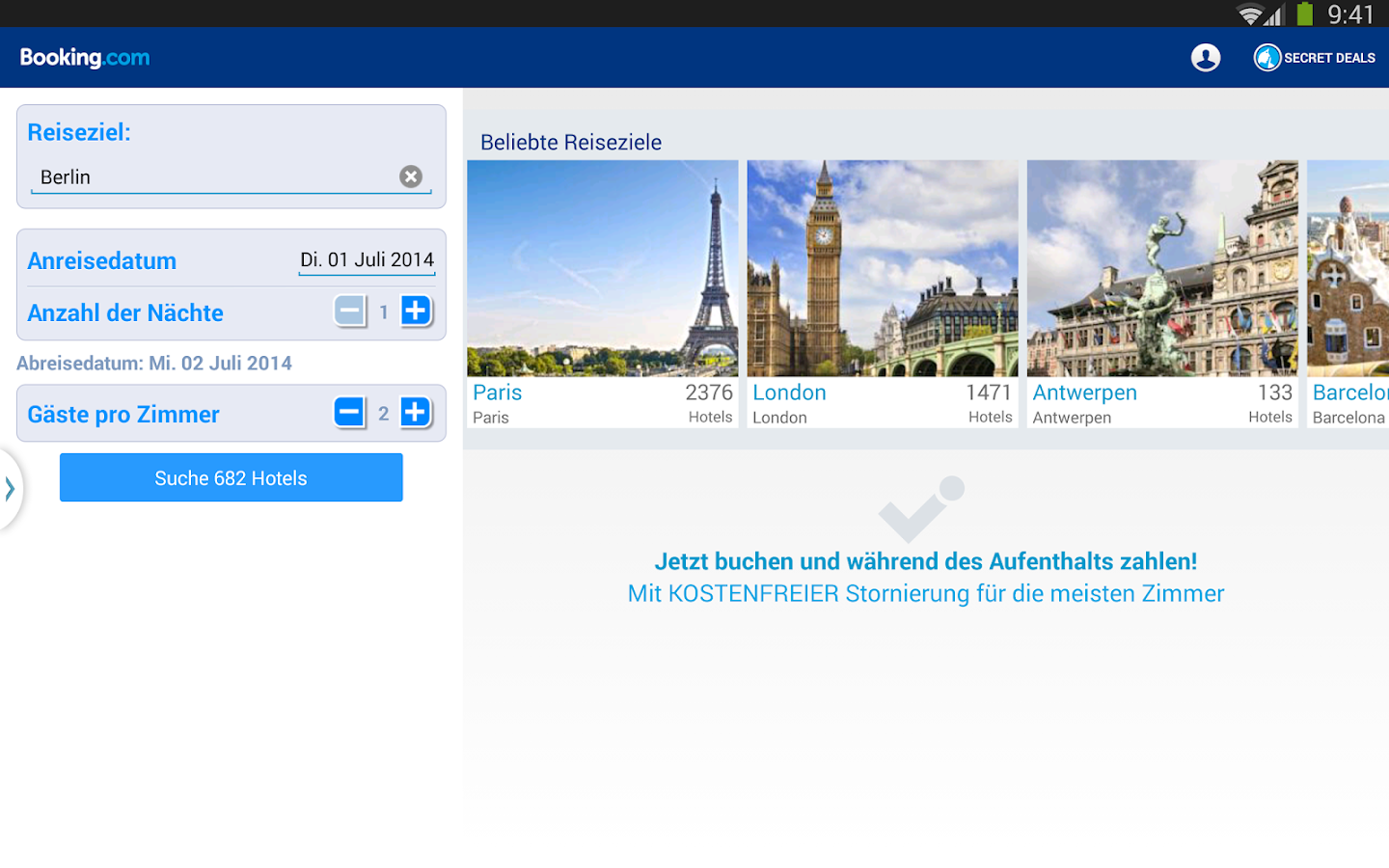 Booking.com – 750.000+ Hotels – Screenshot