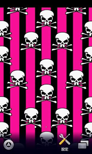 黑色和粉色骷髅壁纸
