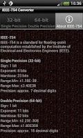 Screenshot of IEEE-754 Converter