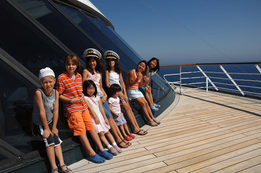 Junior-Cruisers-Kids-on-Deck---Crystal-Serenity - All hands on deck! Junior Cruisers pause while exploring Crystal Serenity.