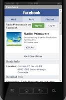 Screenshot of Radio Primavera