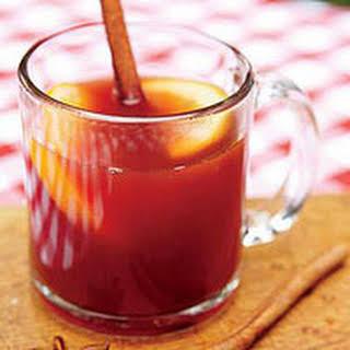 Warm Spiced Pomegranate Orange Juice.