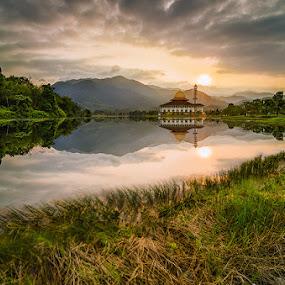 Peace Serenity  by Najmi Rooslan - Landscapes Cloud Formations ( gnd, malaysia, kl, kuala lumpur, lee, uwa, selangor, nd, d7000, sunrise, nikon, tokina, golden hour )