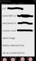 Screenshot of faces & contact