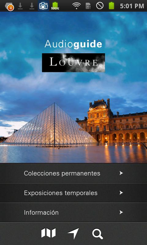 Louvre Audioguía - screenshot
