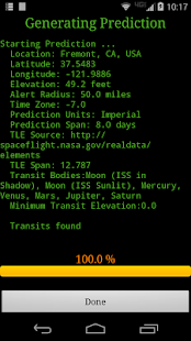 ISS Transit Prediction Pro - náhled