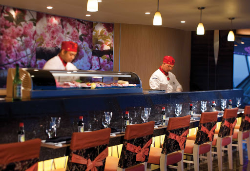 Splendour-of-the-Seas-Izumi - Reservations are recommended for Izumi, a popular sushi bar and Asian fusion restaurant on deck 9 of Splendour of the Seas.
