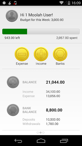 1 Moolah - Expense Manager