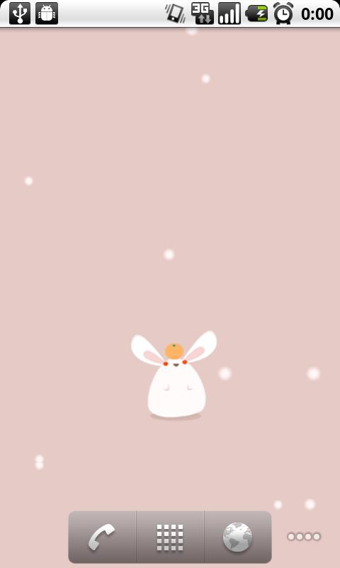 Mochi-Usa (live wallpaper)- screenshot