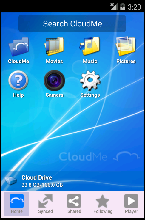CloudMe - screenshot
