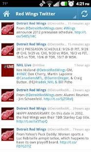 Detroit Red Wings Fan App - screenshot thumbnail