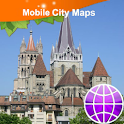 Lausanne Street Map logo