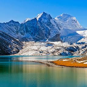 Back to Gurudongmar... by Avishek Patra - Landscapes Mountains & Hills ( mountain, himalaya, blue, snow, india, lake, sikkim,  )