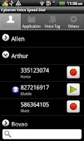 Screenshot of Voice Speed Dial