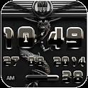 dragon digital clock black icon