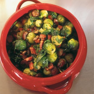 BRUSSELS SPROUTS WITH CHESTNUTS, PANCETTA AND PARSLEY
