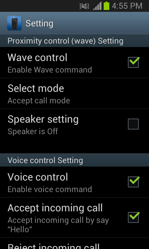 Smart Call Accept- screenshot