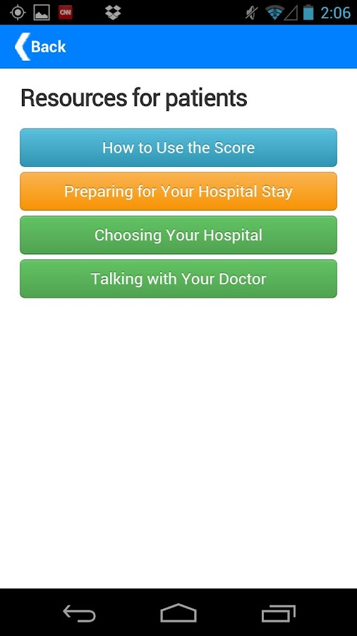 Leapfrog Hospital Safety Score- screenshot