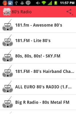 80's Radio - screenshot