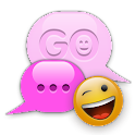 PINK POP GO SMS Theme logo