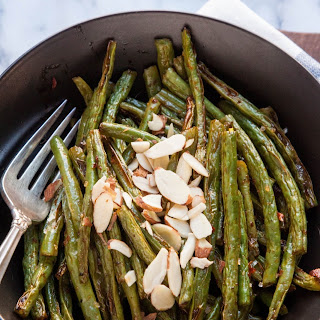 Roasted Green Beans with Harissa.