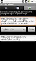 Screenshot of QR Droid Services™