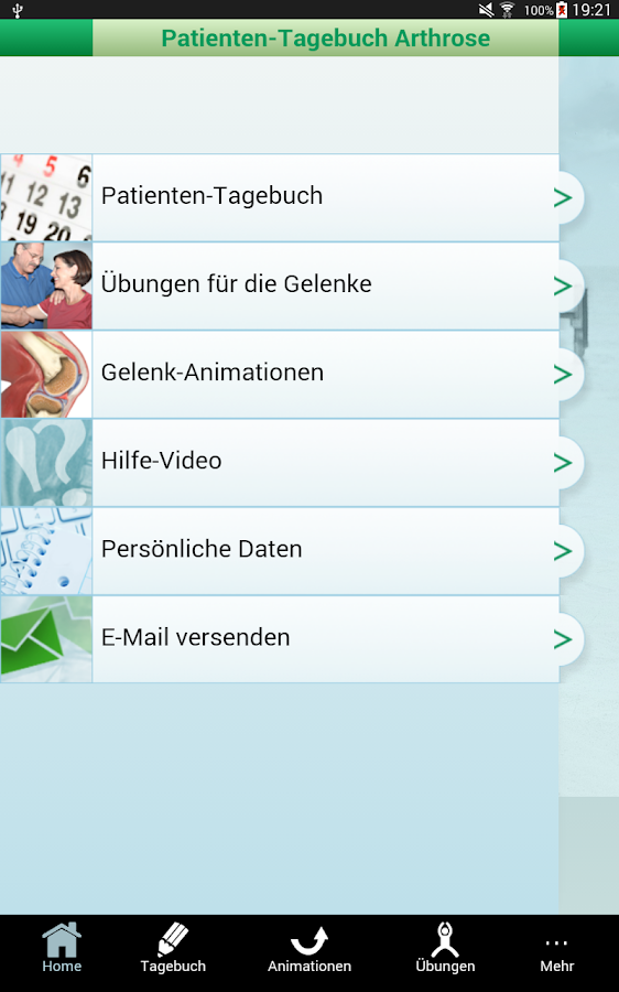 Arthrose-Tagebuch- screenshot