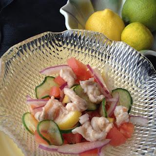 Simple Seabass-Salad Ceviche.