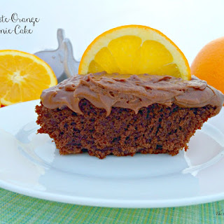 Chocolate-Orange Brownie-Cake
