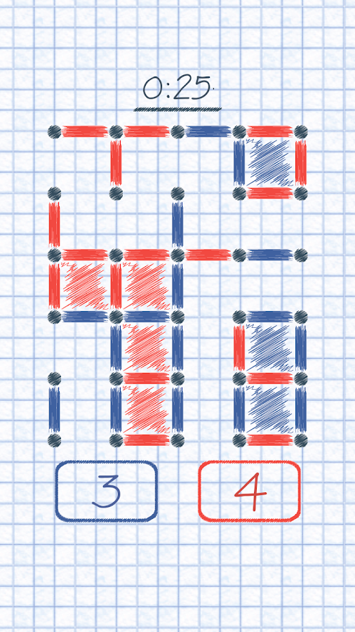 Dots and Boxes! :)- screenshot