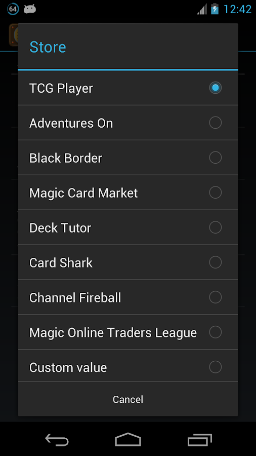 MTG Wishlist - screenshot