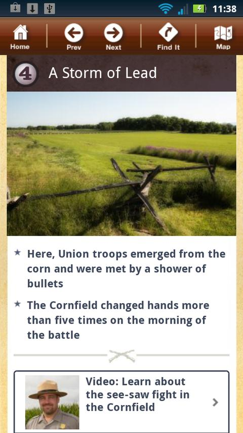 Antietam Battle App - screenshot