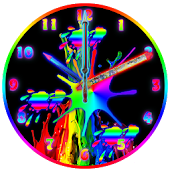Galaxy Colors Clock