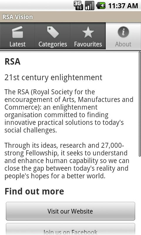 RSA Vision - screenshot