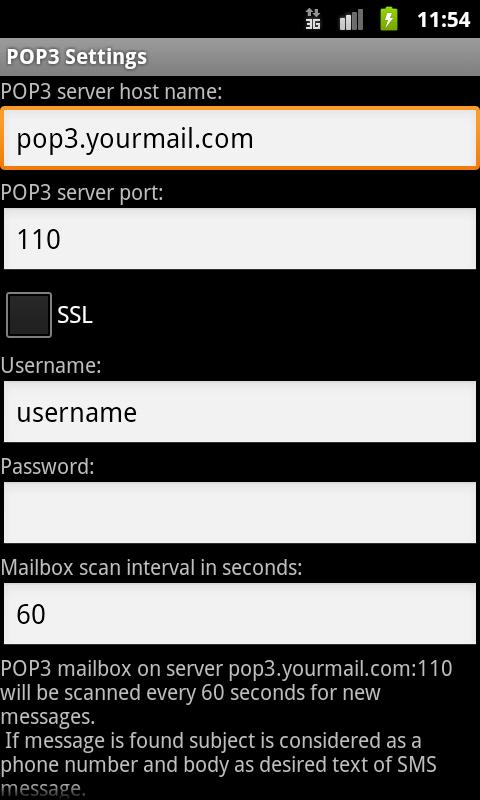 SMS Gateway- screenshot
