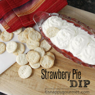 Strawberry Pie Dip & Pie Crust Dippers.