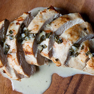 Chicken Breast with Cream of Herb Sauce.