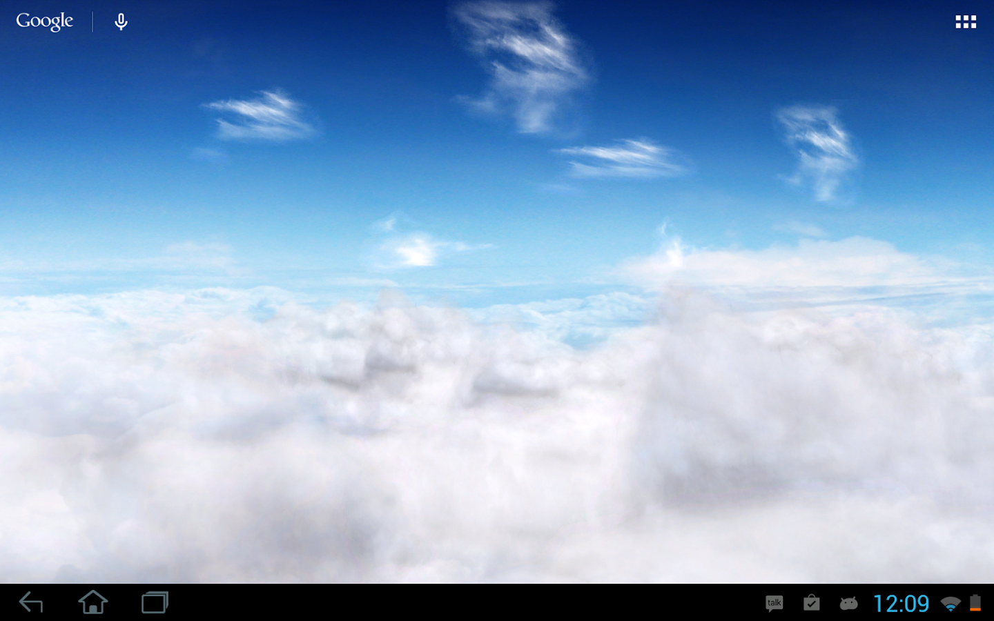 Blue Skies Free Live Wallpaper - screenshot