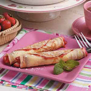 Strawberry Crepe Roll-Ups.