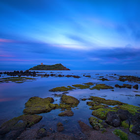 Melting Time by Gabriele Copez - Landscapes Waterscapes ( bluehour, sardegna, blue, long exposure, rocks, italy, island )