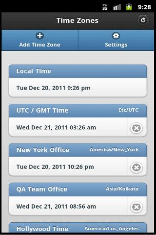 Time Zones - screenshot