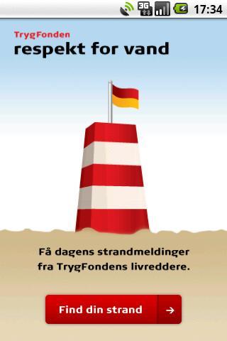Strandvejr fra Trygfonden – screenshot