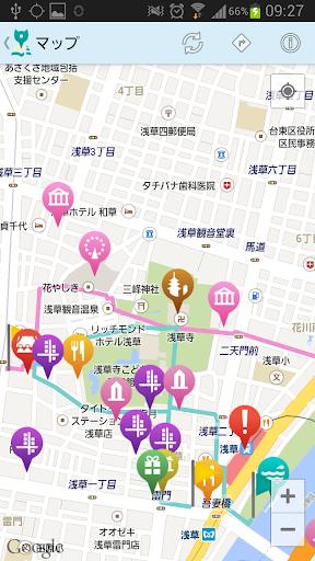 【免費旅遊App】てくてくマップ-APP點子