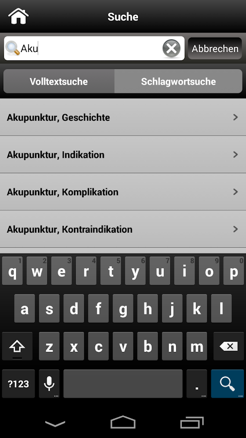 Akupunktur pocket - screenshot