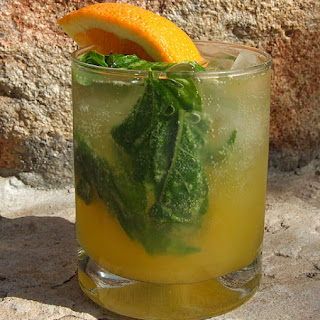Orange- Basil Mojitos.