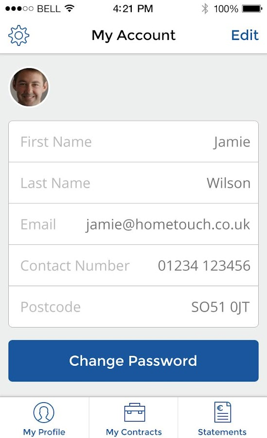HomeTouch Carers- screenshot