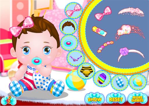 赤ちゃんのゲームのドレス