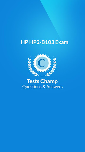 HP2-B103 Exam Quick Assessment